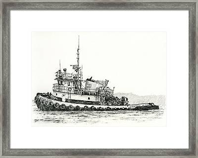 Martha Foss Near Shore Framed Print by James Williamson