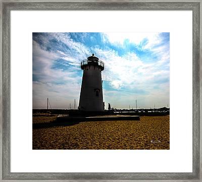 Martha's Vineyard Lighthouse - Massachusetts Framed Print by Madeline Ellis