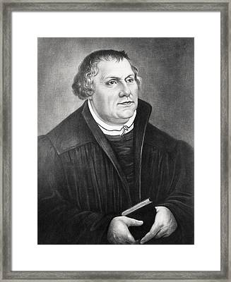 Martin Luther 1483 To 1546 German Framed Print by Vintage Design Pics
