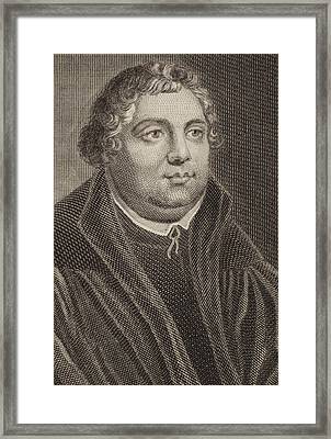 Martin Luther Framed Print by English School