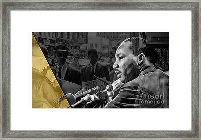 Martin Luther King Collection Framed Print by Marvin Blaine
