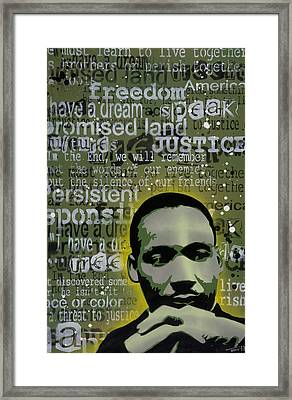 Martin Luther King Framed Print by Tai Taeoalii