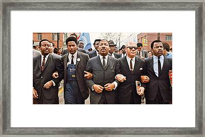 Martin Luther King Selma Drawing Framed Print by Jovemini ART
