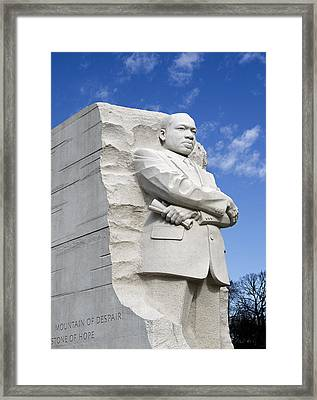 Martin Luther King Jr Memorial In Washington Dc Framed Print by Brendan Reals