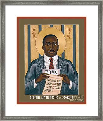 Martin Luther King Of Georgia  - Rlmlk Framed Print by Br Robert Lentz OFM