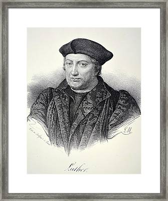 Martin Luther Framed Print by Unknown