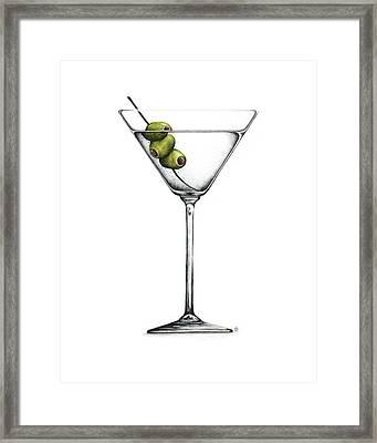 Martini Framed Print by Christina Meeusen