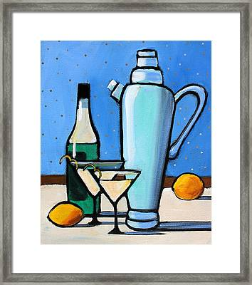 Martini Night Framed Print by Toni Grote