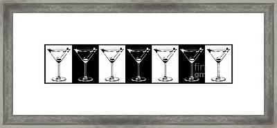 Martini Party Framed Print by Jon Neidert