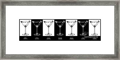 Martini Week Framed Print by Jon Neidert