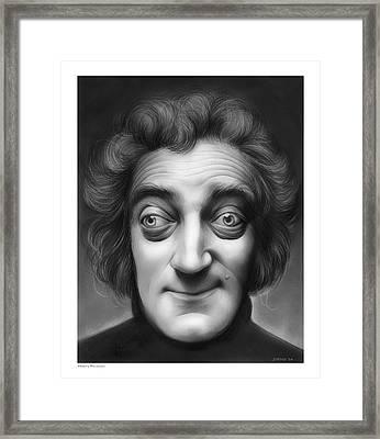 Marty Feldman Framed Print by Greg Joens