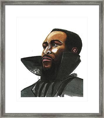 Marvin Gaye Framed Print by Emmanuel Baliyanga