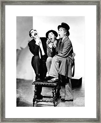 Marx Brothers, The Groucho, Chico Framed Print by Everett