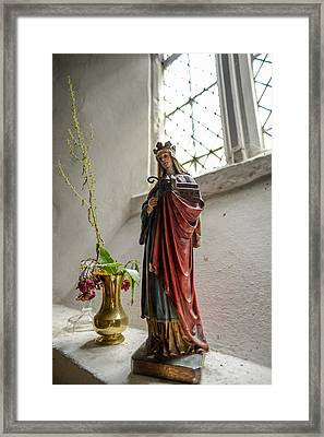 Our Blessed Lady At St Margaret Of Antioch Framed Print by Alex Blondeau