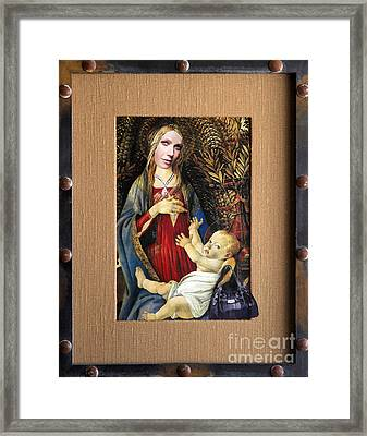Mary And Child Framed Print by Jaime  Becker