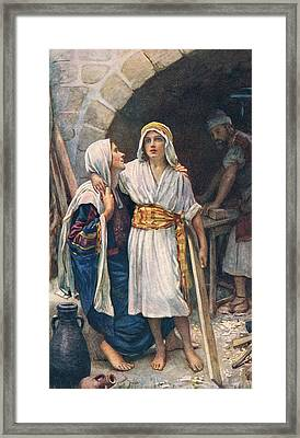 Mary And Jesus Framed Print by Harold Copping