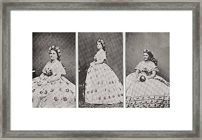 Mary Ann Lincoln, N Framed Print by Vintage Design Pics