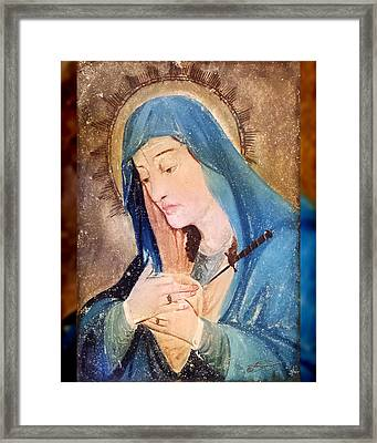 Mary Antique Painting  Framed Print by Kandis Glasgow