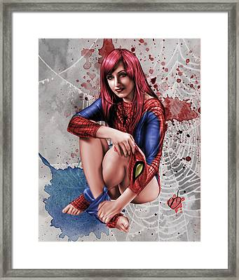 Mary Jane Parker Framed Print by Pete Tapang