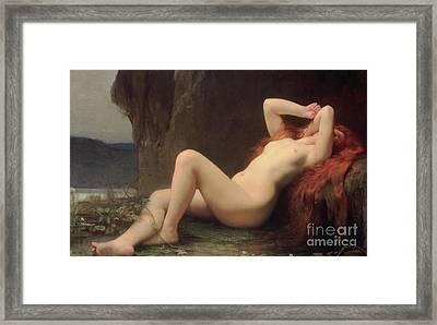 Mary Magdalene In The Cave Framed Print by Jules Joseph Lefebvre