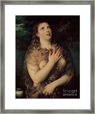 Mary Magdalene Framed Print by Titian