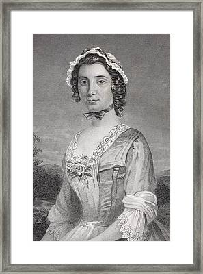 Mary Philipse 1730 - 1825. First Love Framed Print by Vintage Design Pics