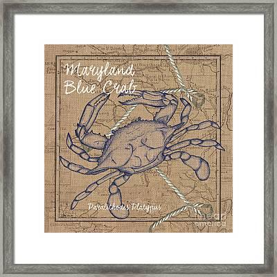 Maryland Blue Crab Framed Print by Debbie DeWitt