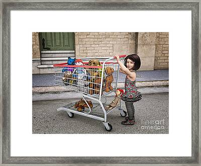 Shopping Cart Framed Print featuring the digital art Mary's Purchase by Jutta Maria Pusl