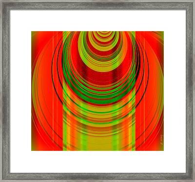 Masai Spirit In The Building Framed Print by Fania Simon