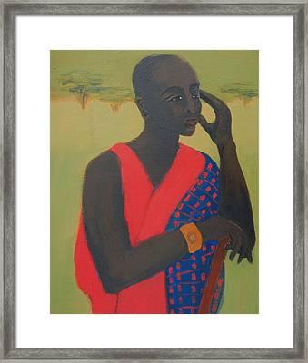Masaii Warrior Framed Print by Renee Kahn