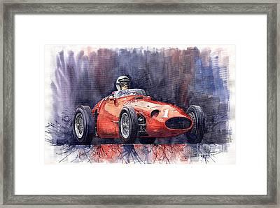 Maserati 250f Framed Print by Yuriy  Shevchuk