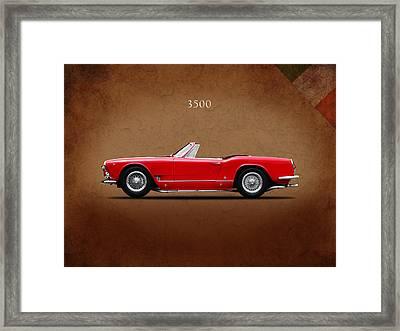 Maserati 3500 Spyder 1959 Framed Print by Mark Rogan