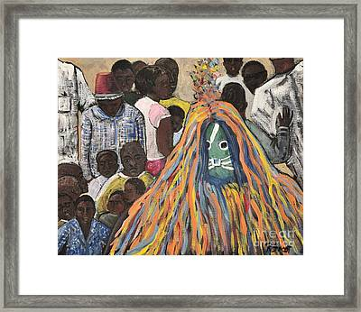 Mask Ceremony Burkina Faso Framed Print by Reb Frost