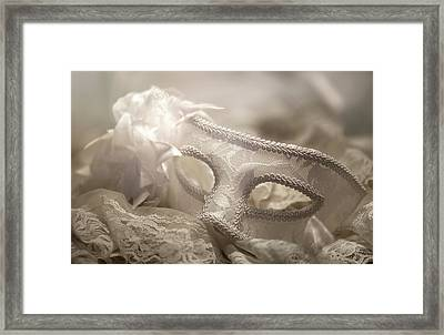 Mask Framed Print by Cindy Grundsten