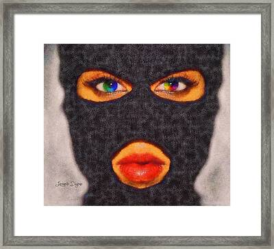 Mask - Da Framed Print by Leonardo Digenio