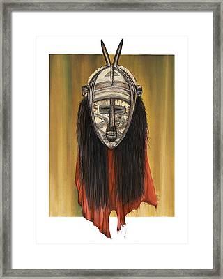 Mask I Untitled Framed Print by Anthony Burks Sr