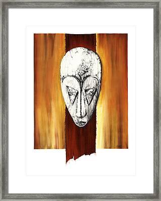 Mask II Untitled Framed Print by Anthony Burks Sr