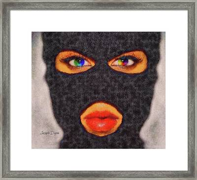 Mask Framed Print by Leonardo Digenio