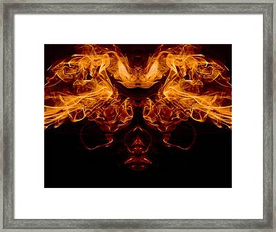 Mask Of Fire Framed Print by Val Black Russian Tourchin