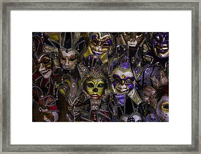 Masks New Orleans Framed Print by Garry Gay