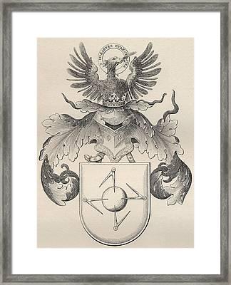 Masonic Seal Framed Print by English School