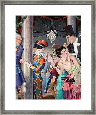 Masquerade Framed Print by MotionAge Designs