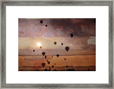 Mass Ascension Framed Print by Rick Mosher
