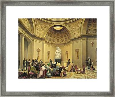 Mass In The Expiatory Chapel Framed Print by Lancelot Theodore Turpin de Crisse
