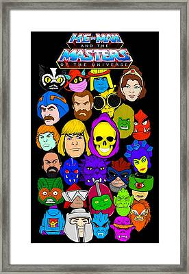 Masters Of The Universe Collage Framed Print by Gary Niles