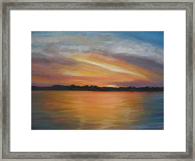 Matanzas Sunrise Framed Print by Patty Weeks