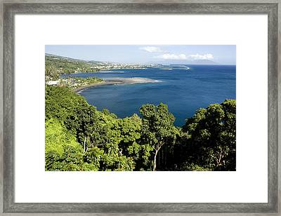 Matavai Bay, Site Of Anchorage Framed Print by Tim Laman