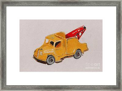 Matchbox Tow Truck Framed Print by Glenda Zuckerman