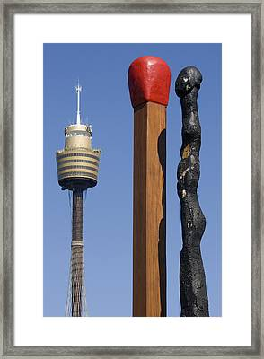 Matches - Sydney Framed Print by Martin Cameron