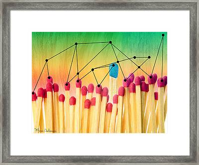 Matches - Leadership Concept Framed Print by Mark Ashkenazi